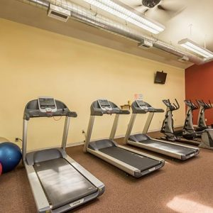 Fitness center featuring modern exercise machines