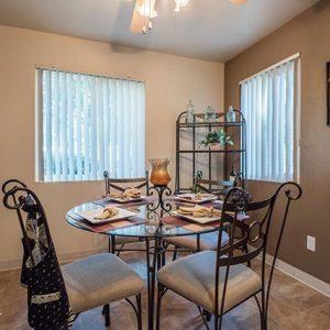 Model unit dining room