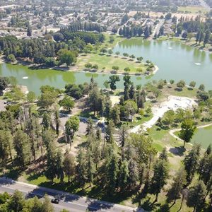 Aerial view of community